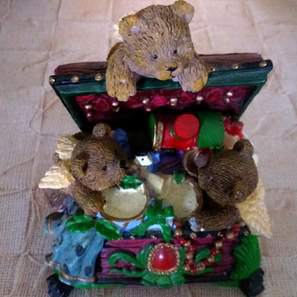 Teddy Bear Treasure Box Candle Holder
